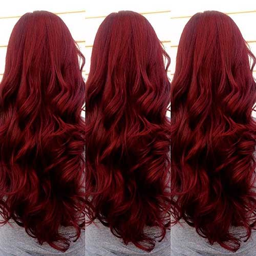 Red Long Hairstyles-22