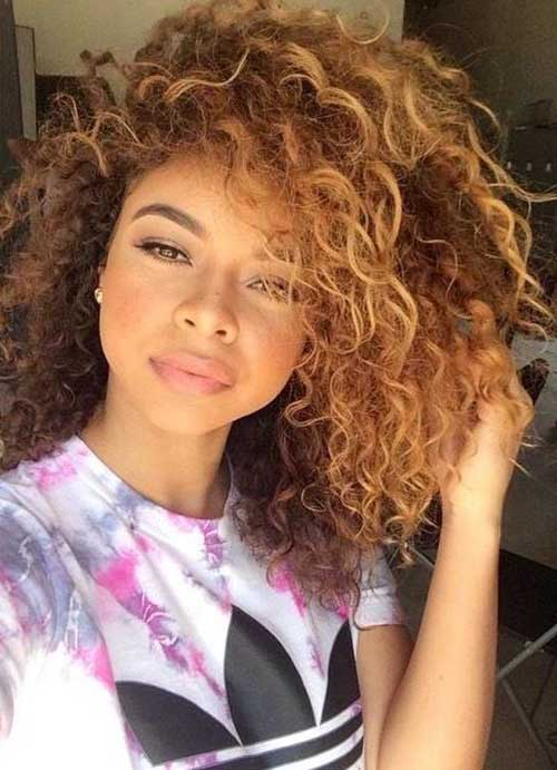25 Light Curly Hair Hairstyles Amp Haircuts 2016 2017