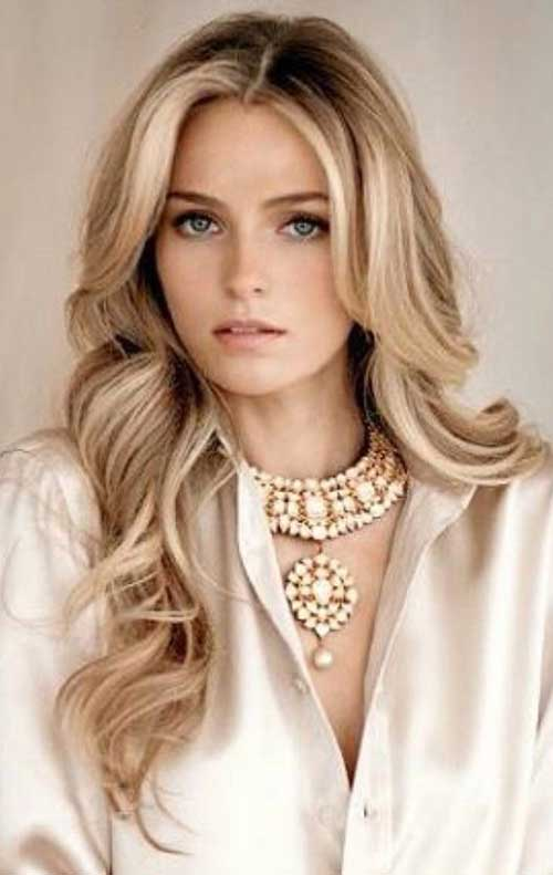 Beauty Blonde In Cold Colours Royalty Free Stock Images: 25+ Haircuts For Long Blonde Hair