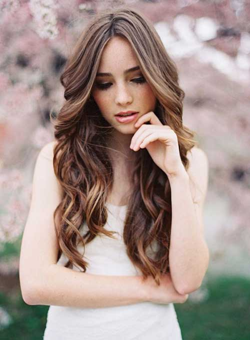 Hairstyles for Wavy Curly Hair-26