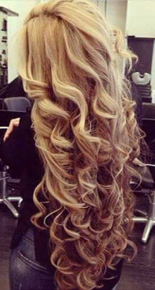 Hairstyles for Wavy Curly Hair-6