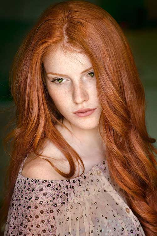 Red Long Hairstyles-7