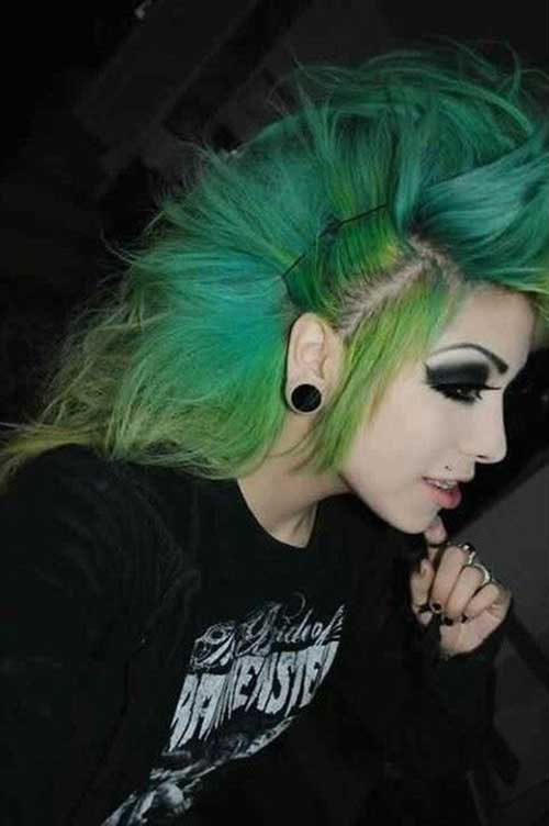 Punk Rock Hairstyles for Long Hair-8