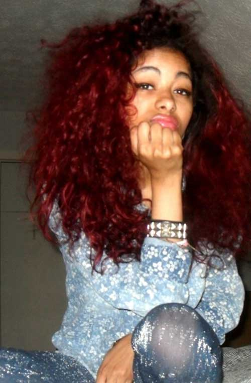 Long Red Curly Hair-9