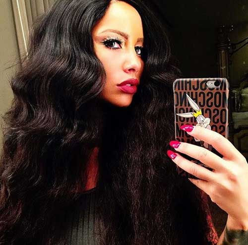Amber Rose Long Hairstyles
