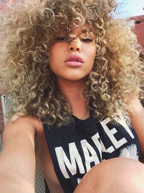 Light Curly Hair Styles
