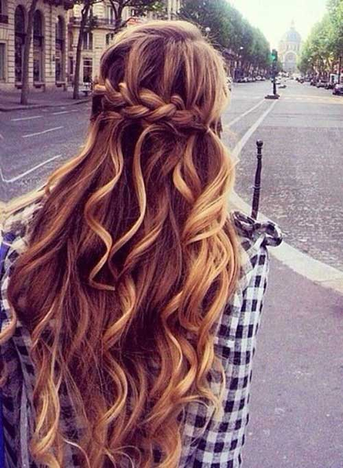 Charming Lady Hairstyle For Long Hair