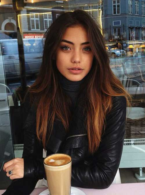 Long Dark Hair Color Ideas
