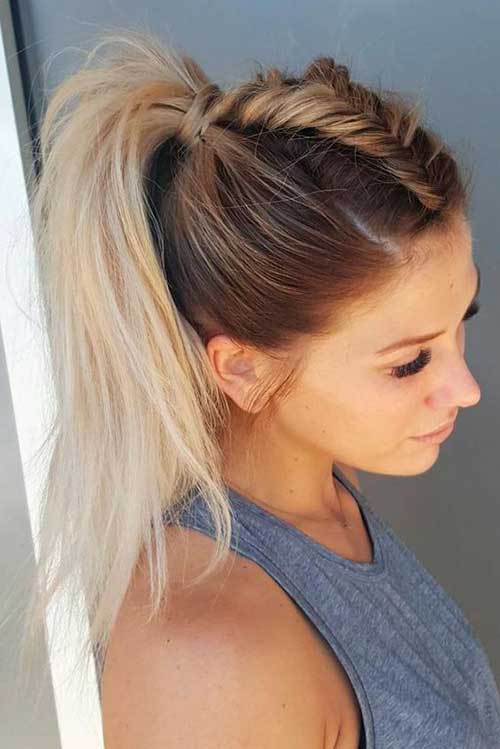 Long Hair Styles Ponytail