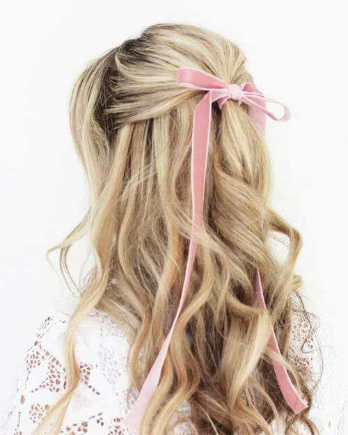 Long Hairstyles with Bows