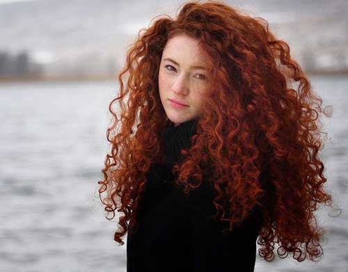 Fantastic 20 Long Red Curly Hair Hairstyles Amp Haircuts 2016 2017 Hairstyles For Women Draintrainus