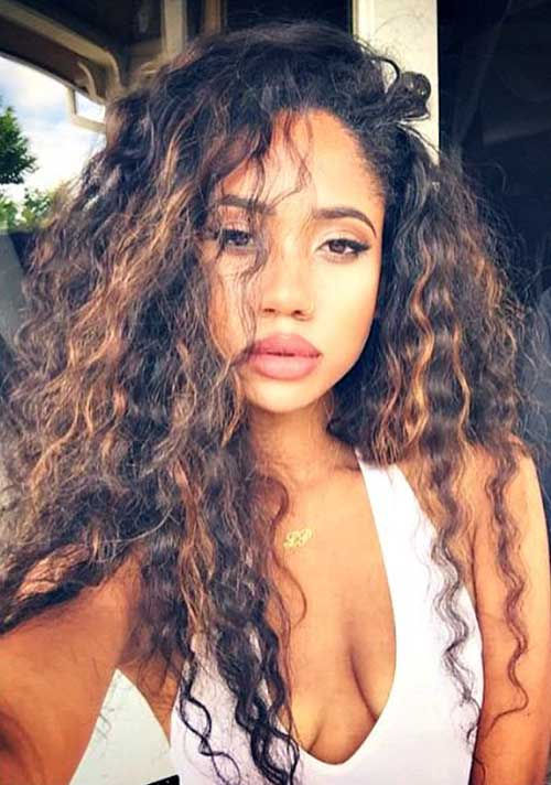 Amazing 20 Long Natural Curly Hairstyles Hairstyles Amp Haircuts 2016 2017 Hairstyles For Women Draintrainus