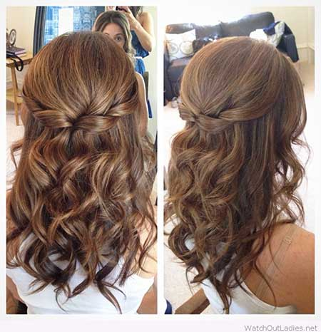 1 Twisted Wavy Half Updo