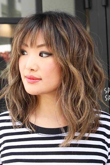 21 Medium Length Layered Haircuts with Bangs | Hairstyles ...