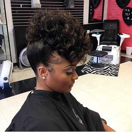 30 pics of stylish curly mohawk hairstyles for black women