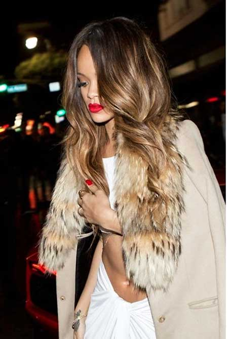 Rihanna Fashion Hair Journey, Fur, Rihanna, Faux Fur, Fur Vest, Balayage
