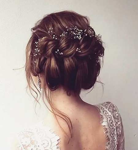 Waterfall, Updo, Wedding