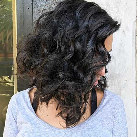 Medium Layered Haircuts Curly Lob, Balayage, Long Hair, Lob,