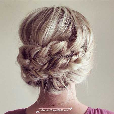 Grad, Fishtail, Updo, Wedding