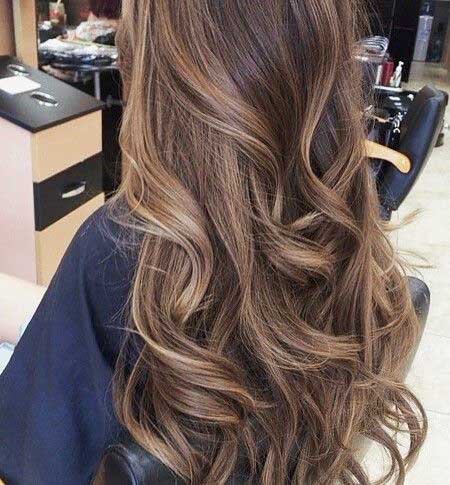 Dark Hair Highlights Light Brown Hair with Babylights,