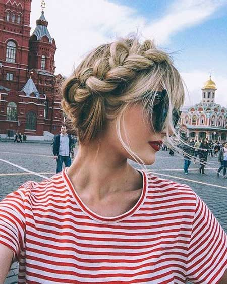 Headband, Crown, Bun, Messy, French, Updo