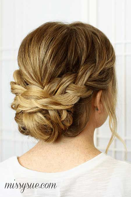 Professional, Updo, Fishtail, Low