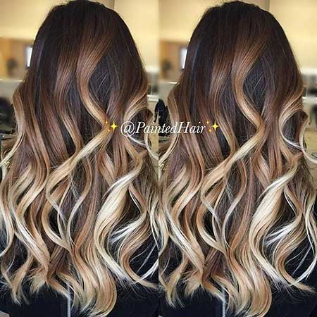 Brown And Blonde Hair Ayage Dark Brown And Blonde Ayage