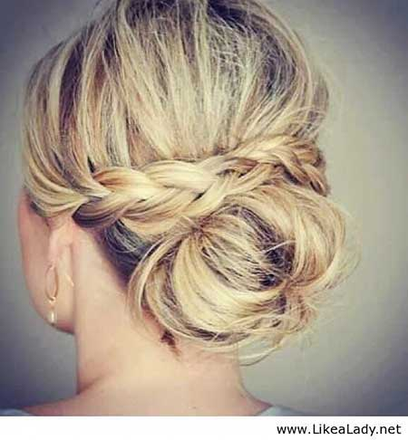 Buns, Low, Bun, Updo, Fishtail