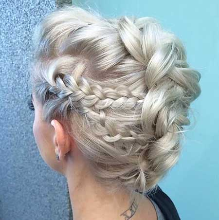 Medium, Length, Hairs, Updo, Wedding