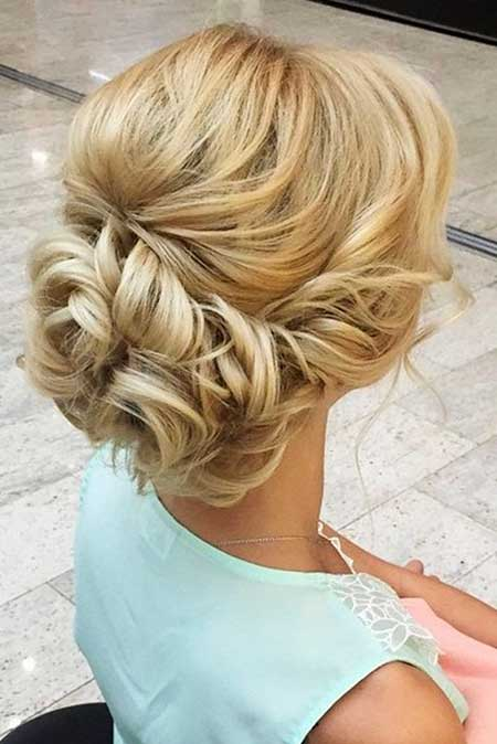 Updo, Fishtail, Low, Wedding