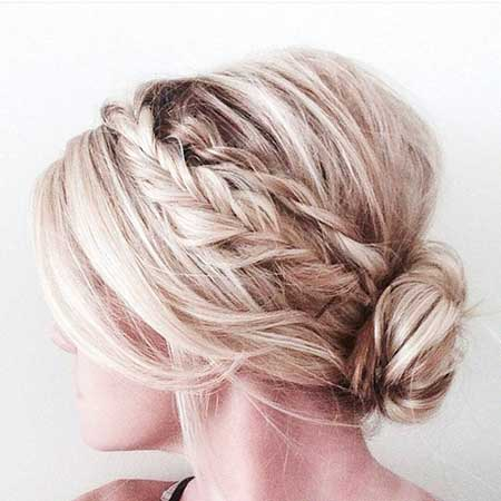 Updo, Prom, Long, Updos, Messy, Bun, Purple