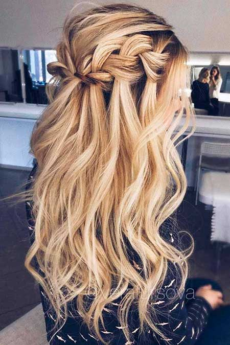 Waterfall, Curls, Wedding