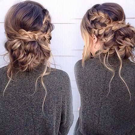 30 new braided updo hairstyles hairstyles haircuts 2016 2017 hairstyles for prom 2017 messy plait updo upstyle wedding penteados pmusecretfo Images