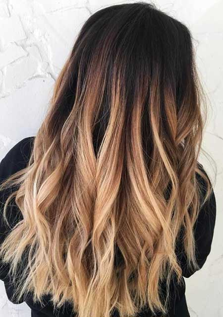 Red Black Hair Dark Brown And Blonde Ombre, Balayage, Ombre, Pop, 2017, Color