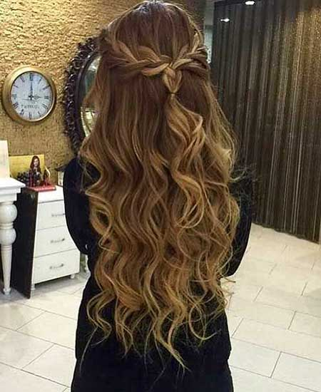 Lovely ... Hairstyle For Long Hair. Big, Loose, Curls, Your, Prom, Ombre,  Balayage, Long,