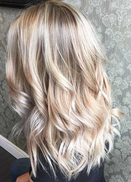 Light Blonde Hair Platinum Blonde Hair with Platinum Highlights, Balayage
