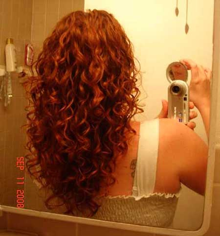 Long Layered Curly Hair Red Haircuts For
