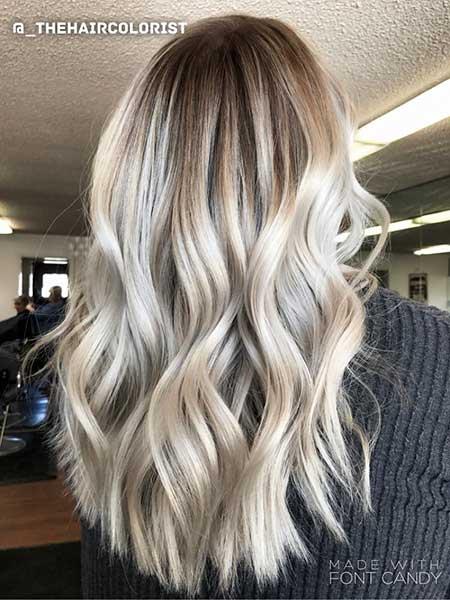 Platinum Hair Long Curly, Balayage, Ash Blonde, Blonde Balayage, Ash, Tones, Blonde