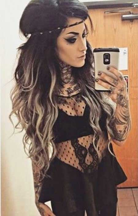 Hair Black Ombre Black Hair Color, Dark, Tips, Blonde