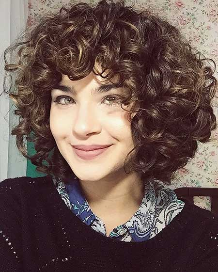 Curly Hair Short Hair, Curly Hairstyles, Short Curly, Bangs, Photo, Layered