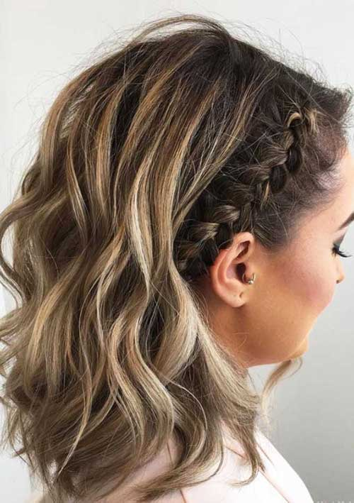 Braided Short Hairdos