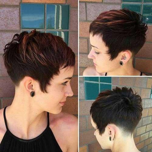 Brown Short Haircuts