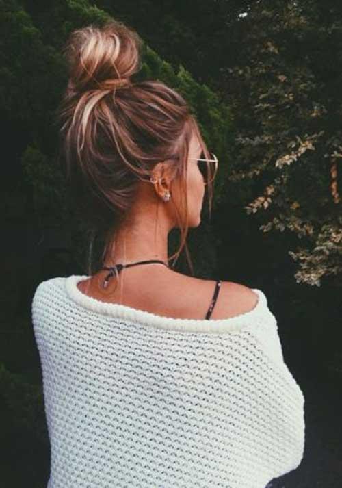 Messy Bun Hairstyles-14