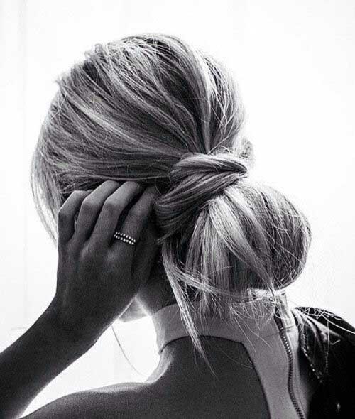 Messy Bun Hair Updos
