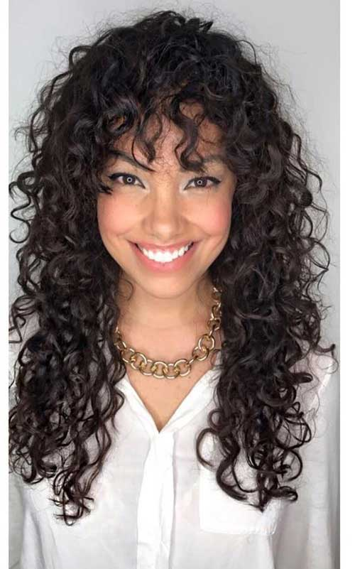 Curly Hairstyles with Bangs-11
