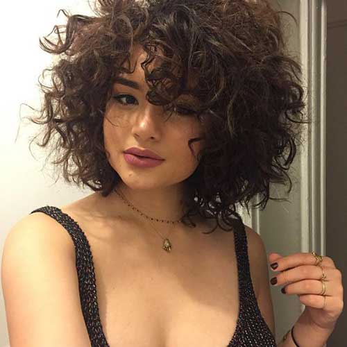 Curly Hairstyles with Bangs-7
