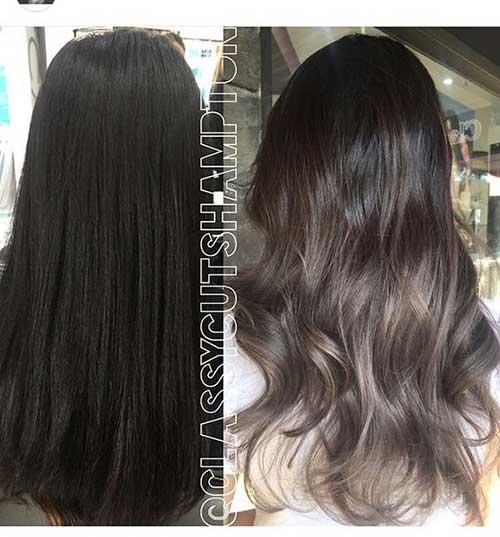 Long Ashy Brown Hair