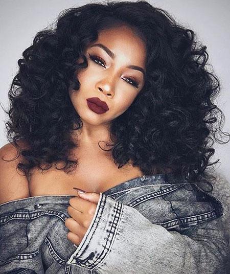 Haircut for Black Women, Hair Wedding Curls Black