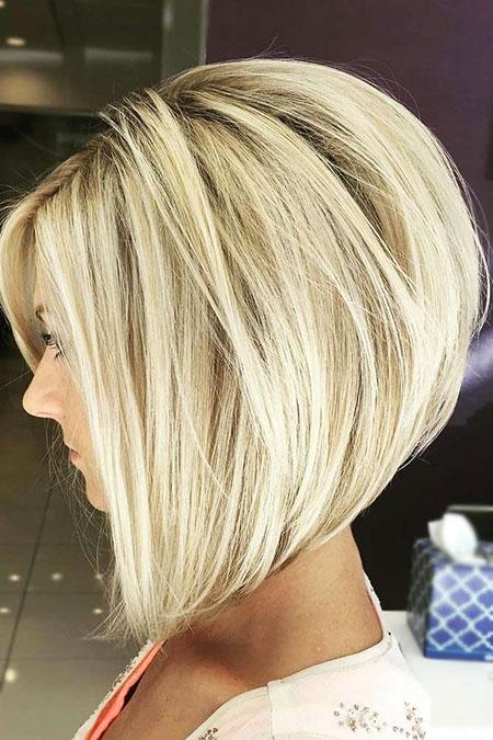 Long Bob Haircut for Thick Hair, Bob Blonde Medium Length