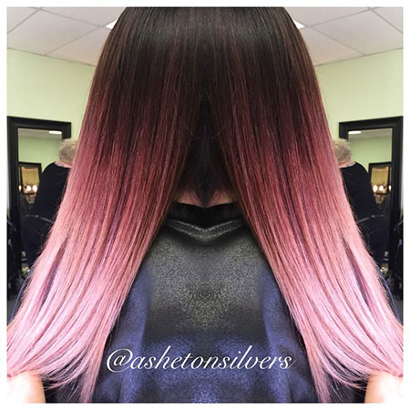 Hair Ombre Rose Gold